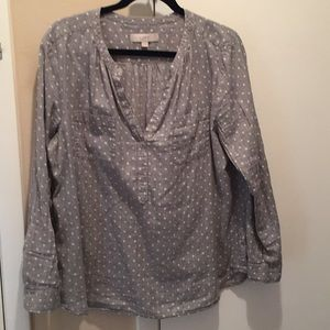 Ann Taylor Loft Long sleeve pullover blouse sizeXL